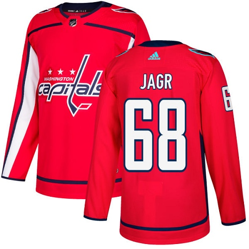 Adidas Men Washington Capitals 68 Jaromir Jagr Red Home Authentic Stitched NHL Jersey