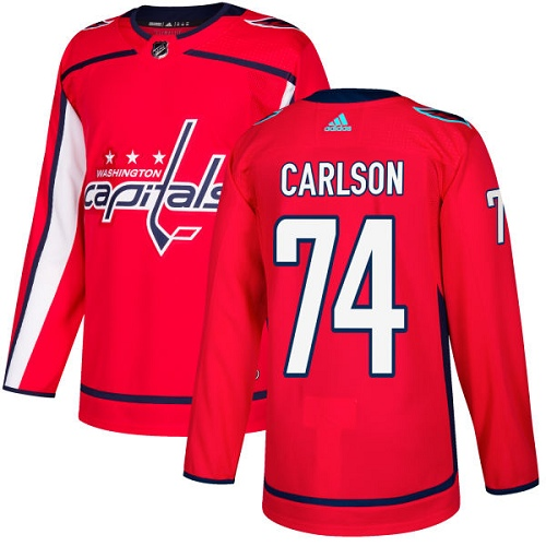 Adidas Men Washington Capitals 74 John Carlson Red Home Authentic Stitched NHL Jersey