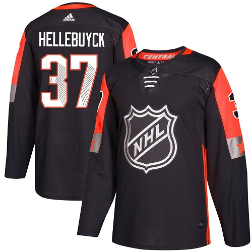 Adidas Men Winnipeg Jets 37 Connor Hellebuyck Black 2018 All-Star NHL Jersey