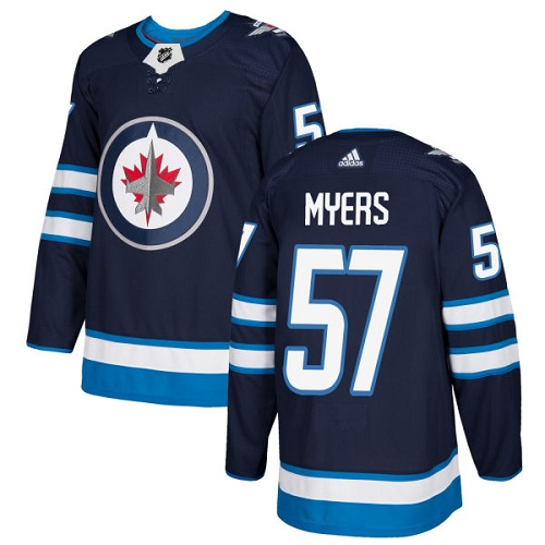 Adidas Men Winnipeg Jets 57 Tyler Myers Navy Blue Home Authentic Stitched NHL Jersey