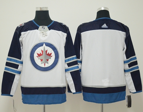 Adidas Men Winnipeg Jets Blank White Road Authentic Stitched NHL Jersey