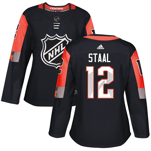 Adidas Minnesota Wild 12 Eric Staal Black 2018 All-Star Central Division Authentic Women Stitched NHL Jersey