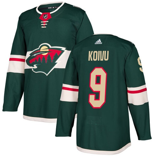 Adidas Minnesota Wild 9 Mikko Koivu Green Home Authentic Stitched Youth NHL Jersey