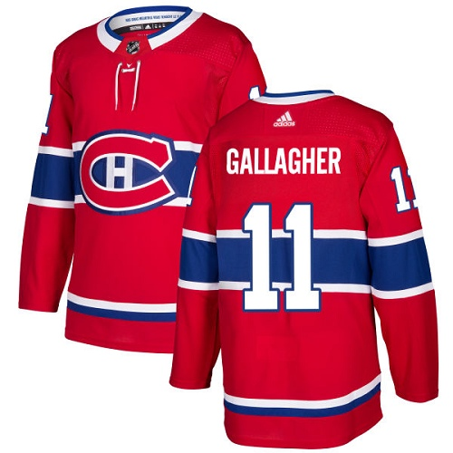 Adidas Montreal Canadiens 11 Brendan Gallagher Red Home Authentic Stitched Youth NHL Jersey