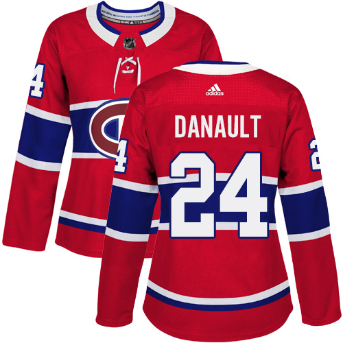 Adidas Montreal Canadiens 24 Phillip Danault Red Home Authentic Women Stitched NHL Jersey