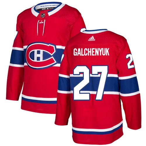 Adidas Montreal Canadiens 27 Alex Galchenyuk Red Home Authentic Stitched Youth NHL Jersey