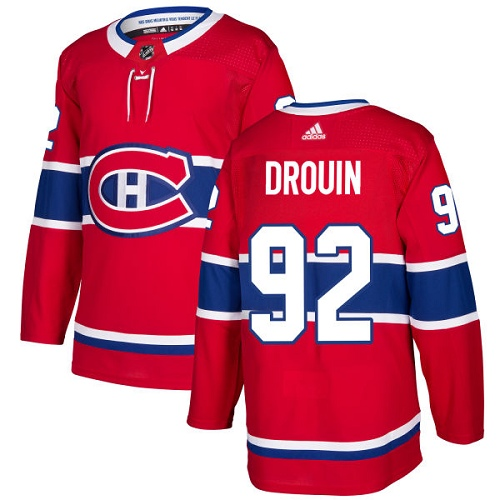 Adidas Montreal Canadiens 92 Jonathan Drouin Red Home Authentic Stitched Youth NHL Jersey
