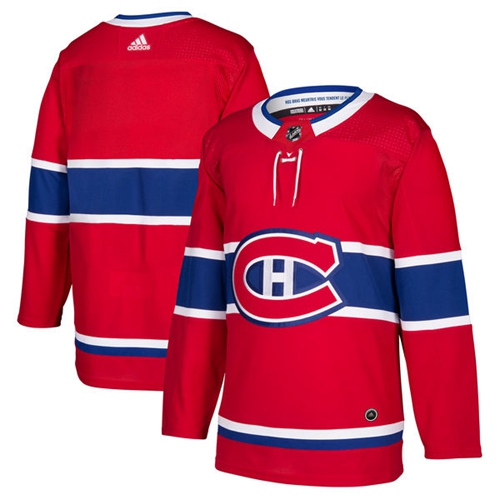 Adidas Montreal Canadiens Blank Red Home Authentic Stitched Youth NHL Jersey
