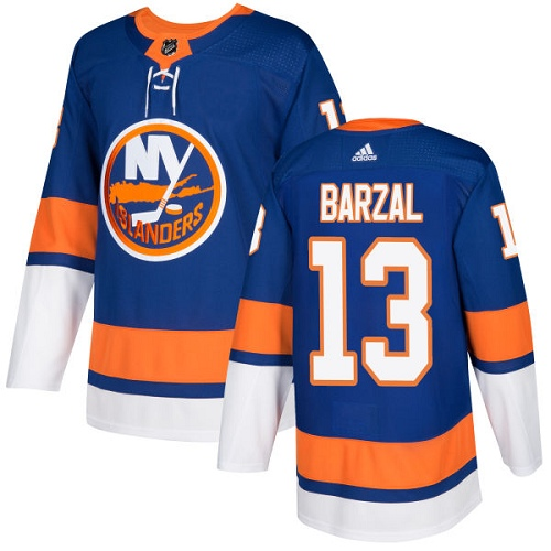 Adidas NEW York Islanders 13 Mathew Barzal Royal Blue Home Authentic Stitched Youth NHL Jersey