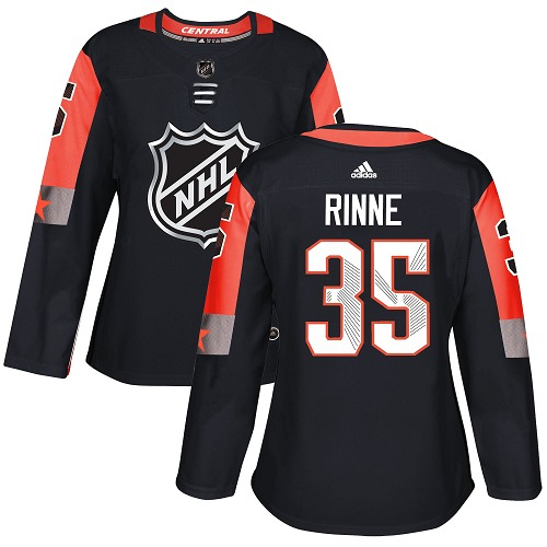 Adidas Nashville Predators 35 Pekka Rinne Black 2018 All-Star Central Division Authentic Women Stitched NHL Jersey
