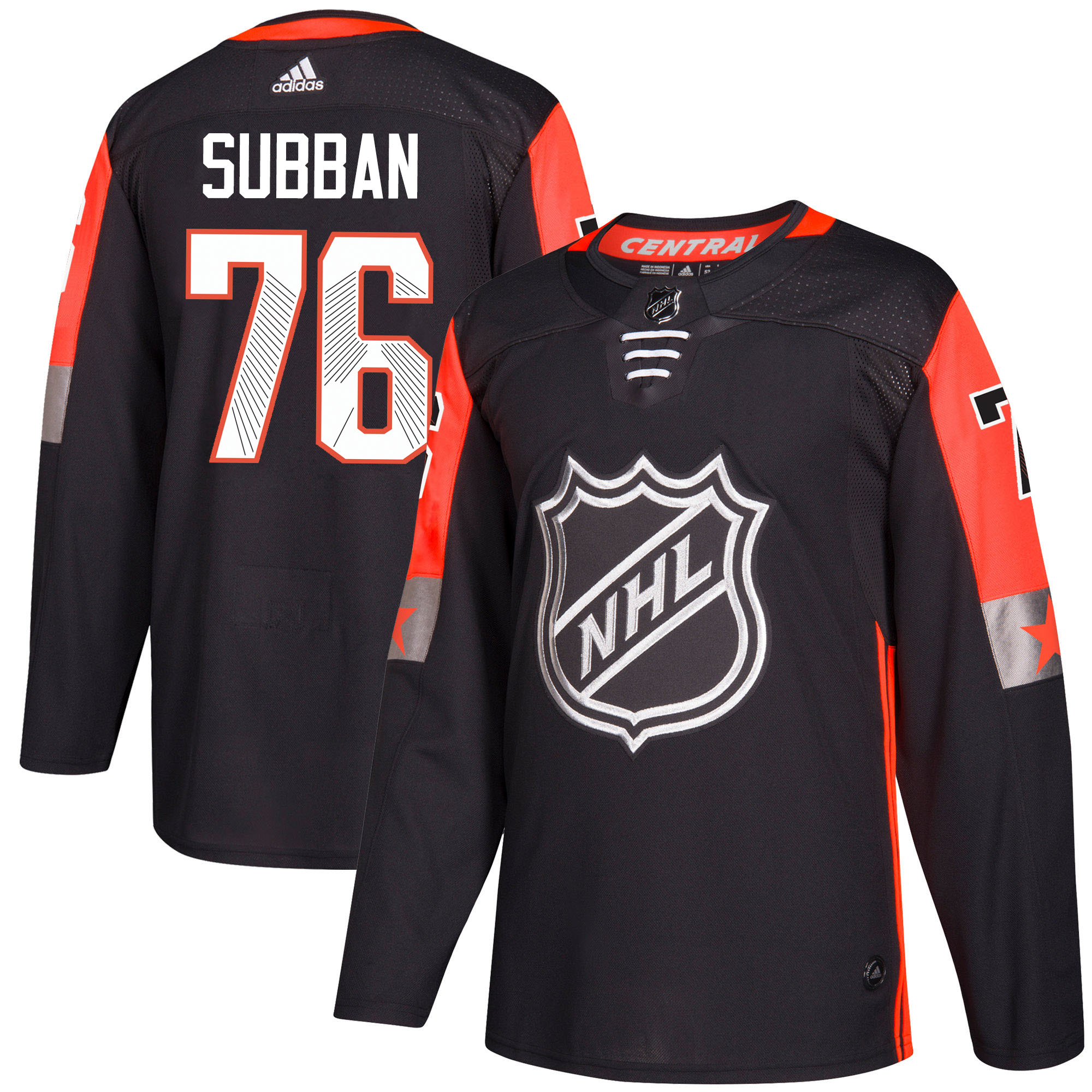 Adidas Nashville Predators 76 P.K Subban Black 2018 All-Star Central Division Authentic Stitched Youth NHL Jersey