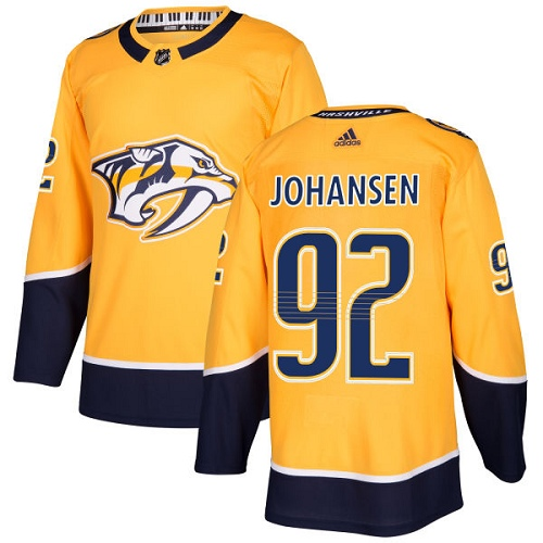 Adidas Nashville Predators 92 Ryan Johansen Yellow Home Authentic Stitched Youth NHL Jersey