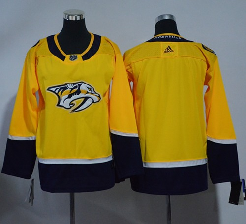 Adidas Nashville Predators Blank Yellow Home Authentic Stitched Youth NHL Jersey