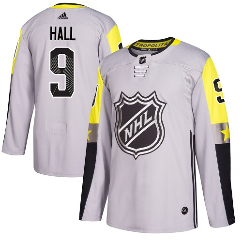 Adidas New Jersey Devils 9 Taylor Hall Gray 2018 All-Star Metro Division Authentic Stitched Youth NHL Jersey