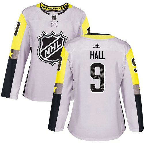 7fcfc93b326 Adidas New Jersey Devils 9 Taylor Hall Gray 2018 All-Star Metro Division Authentic  Women