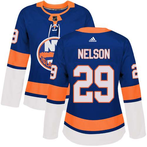 Adidas New York Islanders 29 Brock Nelson Royal Blue Home Authentic Women Stitched NHL Jersey