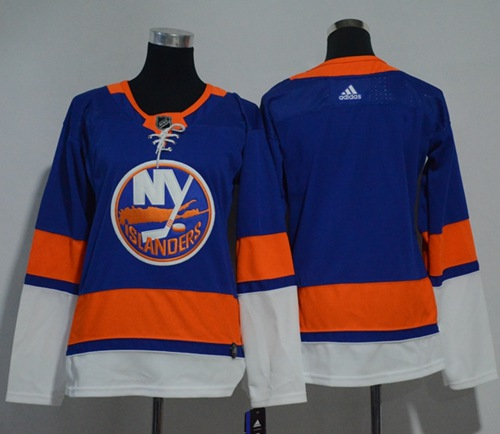 Adidas New York Islanders Blank Royal Blue Home Authentic Women Stitched NHL Jersey