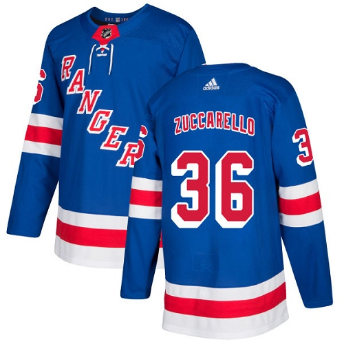 Adidas New York Rangers 36 Mats Zuccarello Royal Blue Home Authentic Stitched Youth NHL Jersey