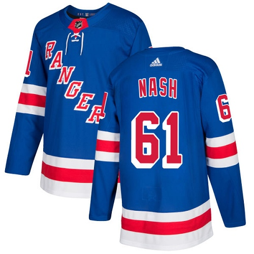 Adidas New York Rangers 61 Rick Nash Royal Blue Home Authentic Stitched Youth NHL Jersey