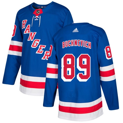 Adidas New York Rangers 89 Pavel Buchnevich Royal Blue Home Authentic Stitched Youth NHL Jersey