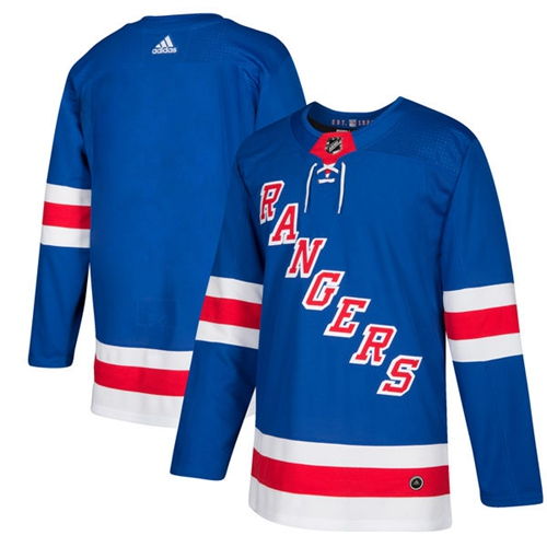 Adidas New York Rangers Blank Royal Blue Home Authentic Stitched Youth NHL Jersey