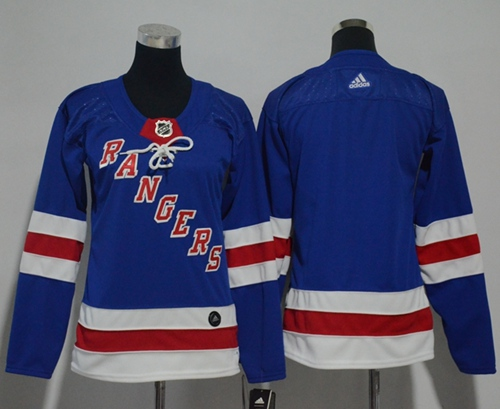 Adidas New York Rangers Blank Royal Blue Home Authentic Women Stitched NHL Jersey