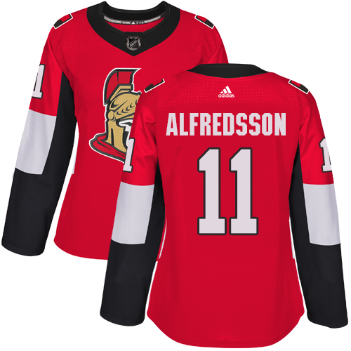 Adidas Ottawa Senators 11 Daniel Alfredsson Red Home Authentic Women Stitched NHL Jersey