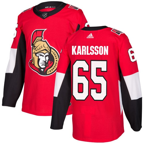 Adidas Ottawa Senators 65 Erik Karlsson Red Home Authentic Stitched Youth NHL Jersey