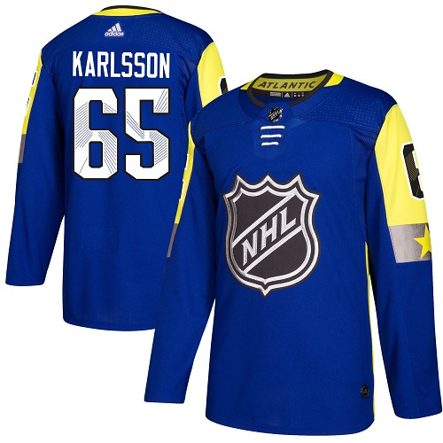 Adidas Ottawa Senators 65 Erik Karlsson Royal 2018 All-Star Atlantic Division Authentic Stitched Youth NHL Jersey