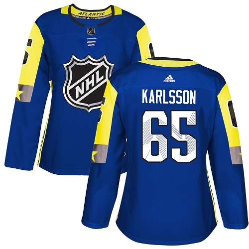 Adidas Ottawa Senators 65 Erik Karlsson Royal 2018 All-Star Atlantic Division Authentic Women Stitched NHL Jersey