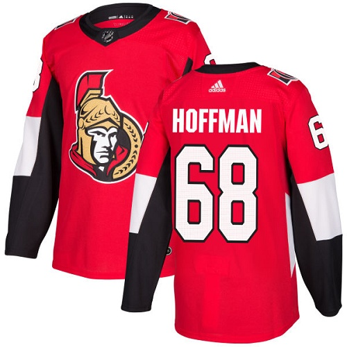 Adidas Ottawa Senators 68 Mike Hoffman Red Home Authentic Stitched Youth NHL Jersey