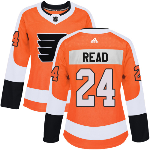 Adidas Philadelphia Flyers 24 Matt Read Orange Home Authentic Women Stitched NHL Jersey