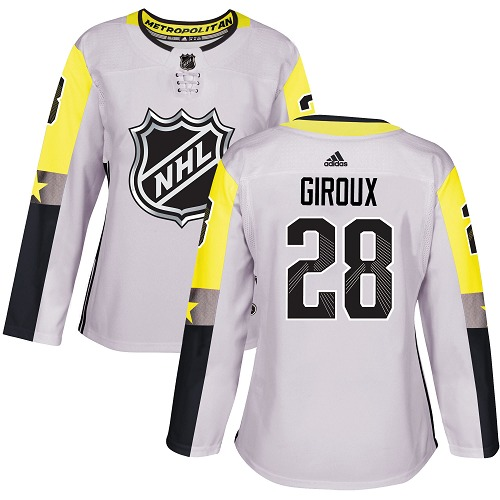 Adidas Philadelphia Flyers 28 Claude Giroux Gray 2018 All-Star Metro Division Authentic Women Stitched NHL Jersey