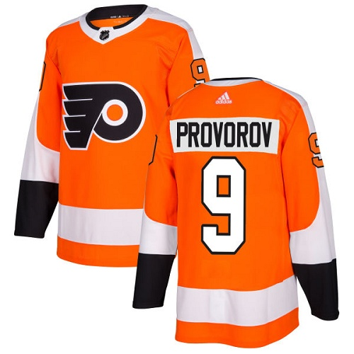 Adidas Philadelphia Flyers 9 Ivan Provorov Orange Home Authentic Stitched Youth NHL Jersey