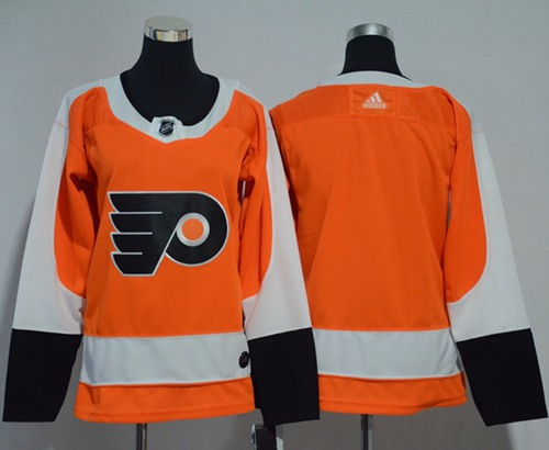 Adidas Philadelphia Flyers Blank Orange Home Authentic Women Stitched NHL Jersey