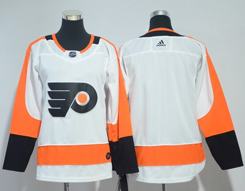 Adidas Philadelphia Flyers Blank White Road Authentic Stitched Youth NHL Jersey