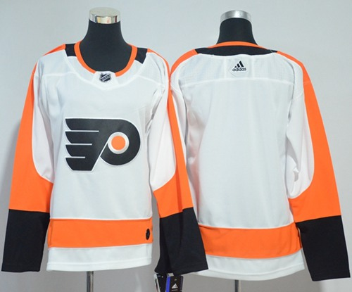 Adidas Philadelphia Flyers Blank White Road Authentic Women Stitched NHL Jersey