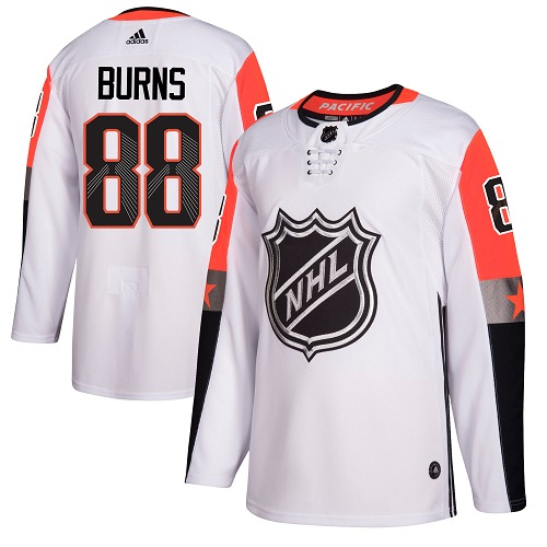 Adidas San Jose Sharks 88 Brent Burns White 2018 All-Star Pacific Division Authentic Stitched Youth NHL Jersey