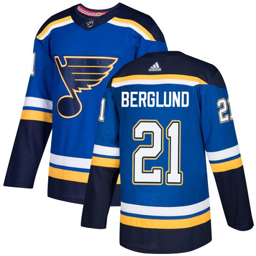 Adidas St.Louis Blues 21 Patrik Berglund Blue Home Authentic Stitched Youth NHL Jersey