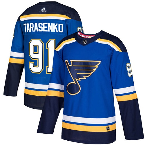 Adidas St.Louis Blues 91 Vladimir Tarasenko Blue Home Authentic Stitched Youth NHL Jersey
