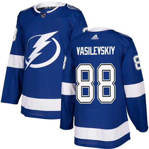 Adidas Tampa Bay Lightning 88 Andrei Vasilevskiy Blue Home Authentic Stitched Youth NHL Jersey