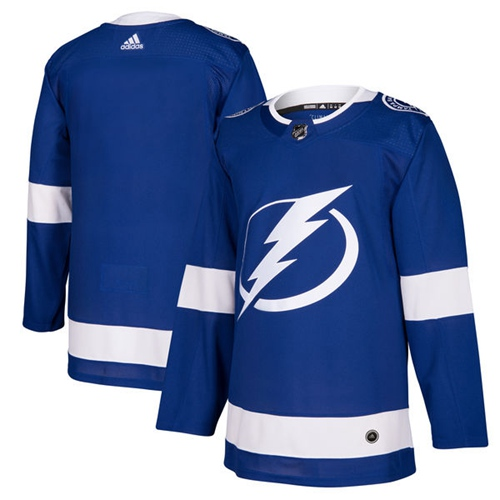 Adidas Tampa Bay Lightning Blank Blue Home Authentic Stitched Youth NHL Jersey