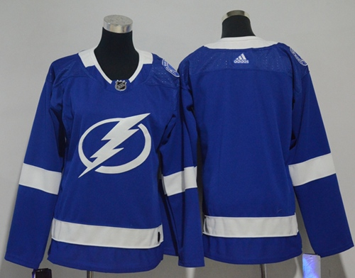 Adidas Tampa Bay Lightning Blank Blue Home Authentic Women Stitched NHL Jersey