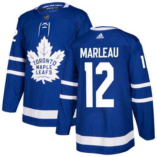 Adidas Toronto Maple Leafs 12 Patrick Marleau Blue Home Authentic Stitched Youth NHL Jersey