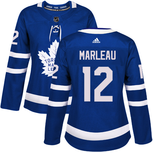 Adidas Toronto Maple Leafs 12 Patrick Marleau Blue Home Authentic Women Stitched NHL Jersey