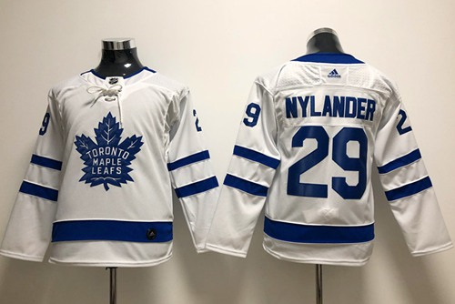 Adidas Toronto Maple Leafs 29 William Nylander White Road Authentic Stitched Youth NHL Jersey
