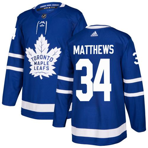 Adidas Toronto Maple Leafs 34 Auston Matthews Blue Home Authentic Stitched Youth NHL Jersey