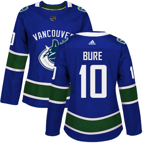 Adidas Vancouve Canucks 10 Pavel Bure Blue Home Authentic Women Stitched NHL Jersey