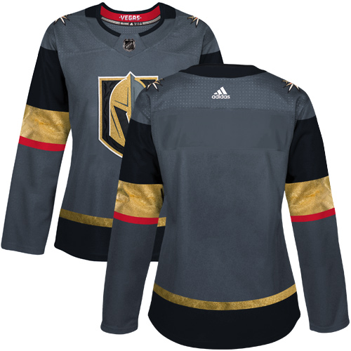Adidas Vegas Golden Knights Blank Grey Home Authentic Women Stitched NHL Jersey