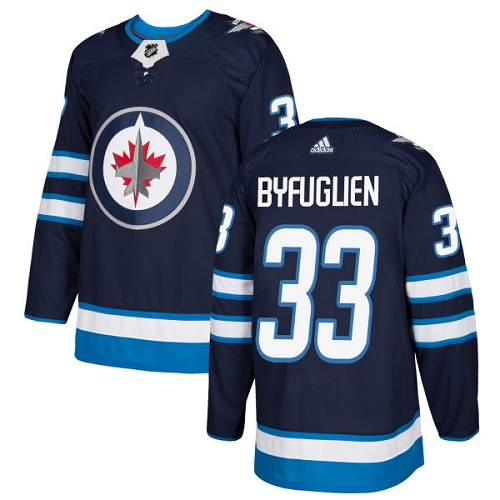 Adidas Winnipeg Jets 33 Dustin Byfuglien Navy Blue Home Authentic Stitched Youth NHL Jersey